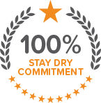 100% Stay Dry Commitment Seal