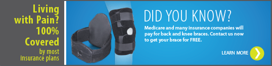 Click the ad to view knee and back brace information