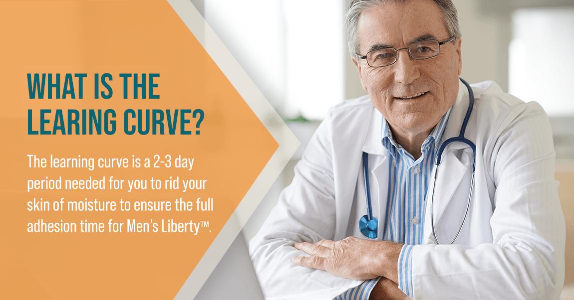 Urologist explaining Men's Liberty learning curve